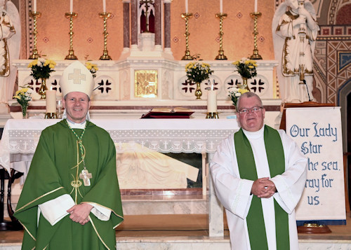 Courtmacsherry and Barryroe Churches welcomed Bishop Fintan Gavin on Sunday 13 September